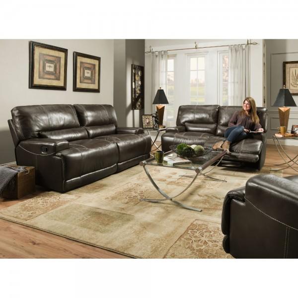Napa Reclining Brown Living Room Corinthian - 81002 | Conn's
