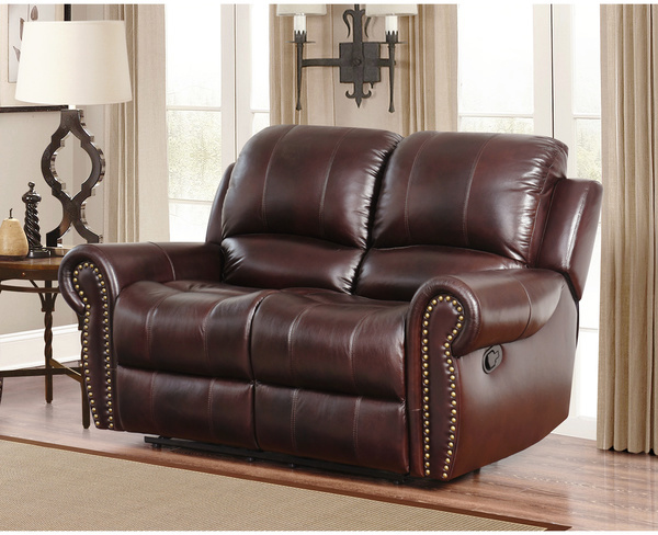 Dual Reclining Loveseat - Leather Sofa Guide