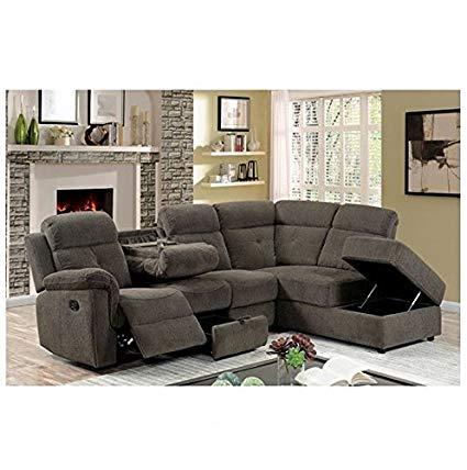 Amazon.com: AVIA Sectional Reclining Sofa w Drop Down Console