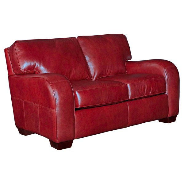 Shop Broyhill Melanie Red Leather Loveseat - Free Shipping Today