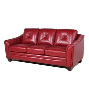 Leather Red Sofas You'll Love | Wayfair