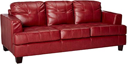 The exquisite red leather sofa in your   living rooms
