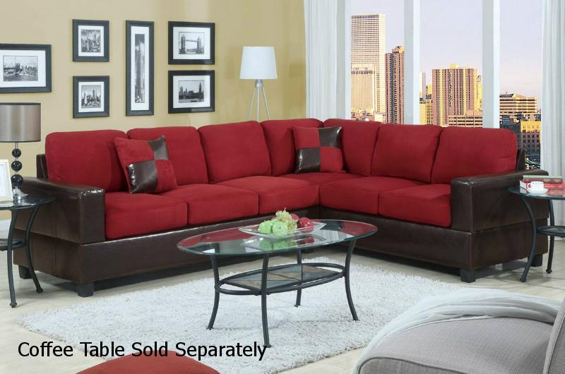 Red Leather Sectional Sofa - Steal-A-Sofa Furniture Outlet Los