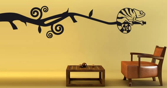 Cameleon removable wall decals | Dezign With a Z
