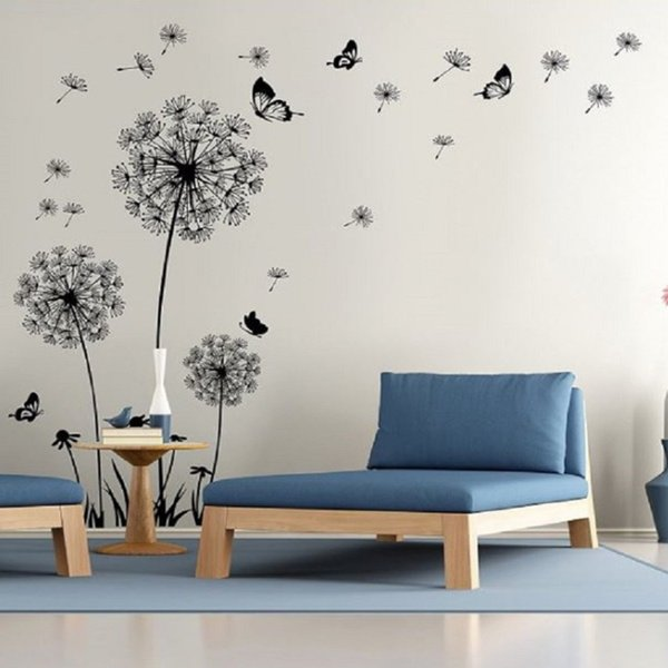 Shop Dandelion Wall Decal - Wall Stickers Dandelion Art Decor- Vinyl