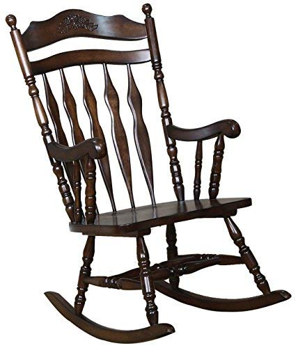 Amazon.com: Windsor Rocking Chair Medium Brown: Kitchen & Dining