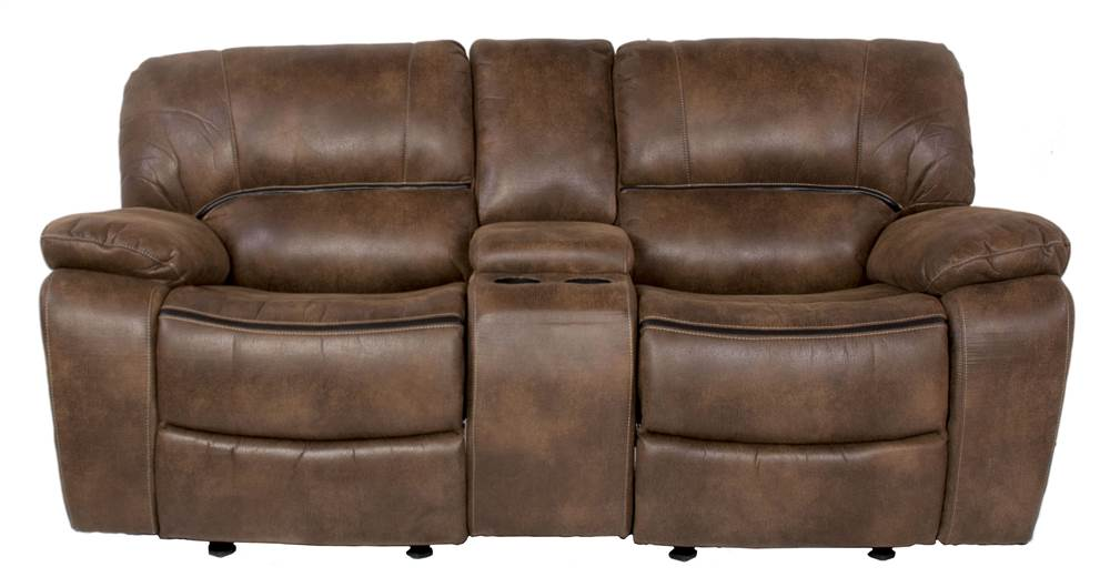 Dual Rocking Reclining Loveseat with Console - Walmart.com