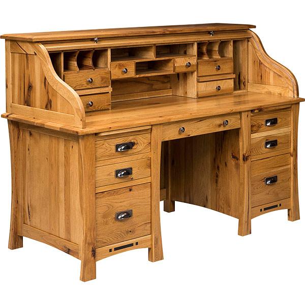 Arts and Crafts Rolltop Desk | Shipshewana Furniture Co.