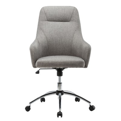 Comfy Height Adjustable Rolling Office Desk Chair- Gray- Techni