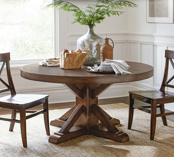 Benchwright Pedestal Dining Table | Pottery Barn