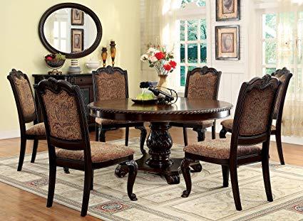 Amazon.com: Furniture of America Ferrara 7-Piece Elegant Round