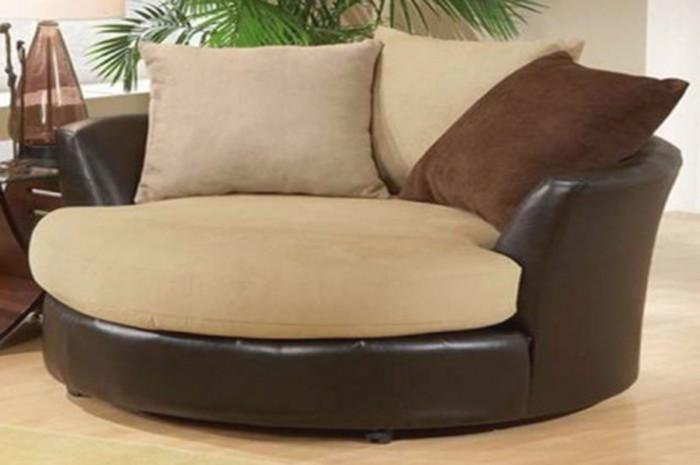 Round Swivel Living Room Chair Round Oversized Swivel