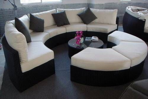 Exotic round sectional sofa gallery Glamorize Your Living Spaces