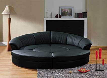 Living room furniture – round sectional   sofa