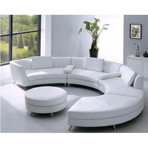 White Round Sofa Set, Rs 45000 /set, Noor Bedding & Furnishing | ID