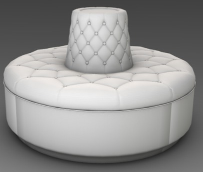 Second Life Marketplace - Round Sofa - Full Perm Mesh - Low Impact