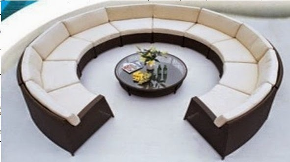 Round sofas designs: unique living room furniture design