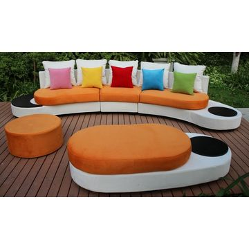 new design half round sofa furniture mixed colours fabric sofa sets