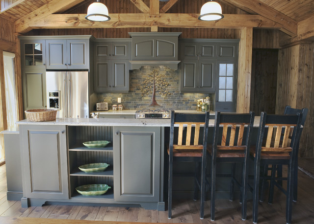 Elmwood Fine Custom Cabinetry - Rustic - Kitchen - Other - by