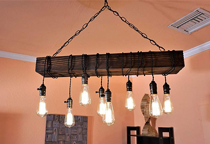 Amazon.com: farmhouse chandelier-wood chandelier-rustic chandeliers