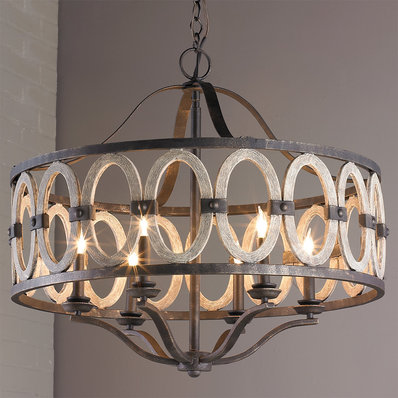 Rustic Chandeliers | Wood, Farmhouse & Wrought Iron - Shades of Light