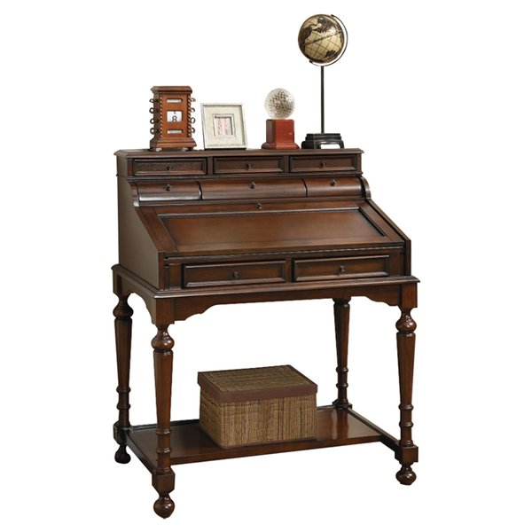 Astoria Grand Castellano Secretary Desk with Hutch & Reviews | Wayfair