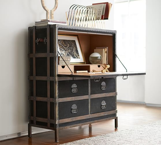Ludlow Trunk Secretary Desk | Pottery Barn