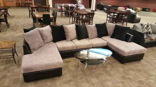 Large 3pc Sectional Sofa w/ Double Chaise in Jamba Fabric - Phoenix