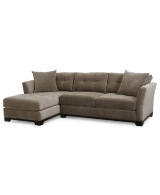 Furniture CLOSEOUT! Elliot Fabric Microfiber 2-Pc. Chaise Sectional