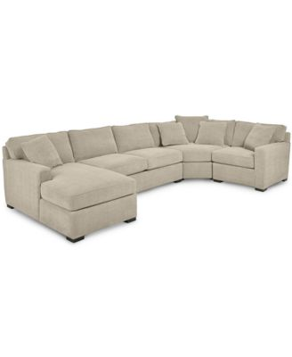 Furniture Radley 4-Piece Fabric Chaise Sectional Sofa, Created for
