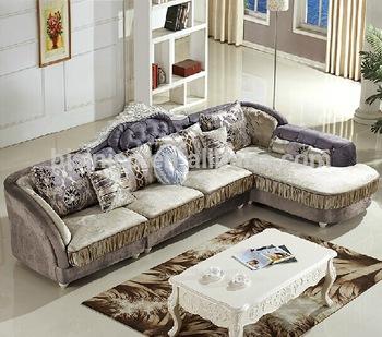 Cloth Living Room Sofa Set,Wood Frame Corner Sofa,Post-modern