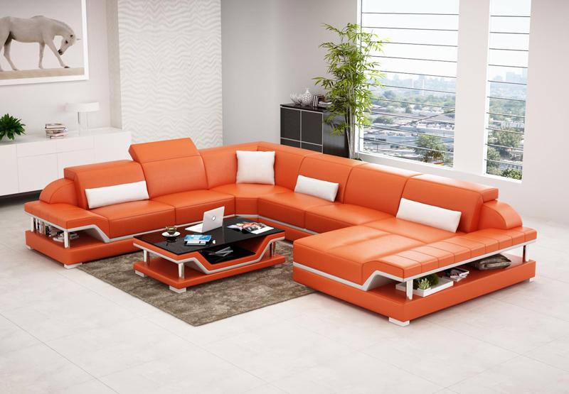 2016 new design modern sectional corner sofa sets G8004 -in Living