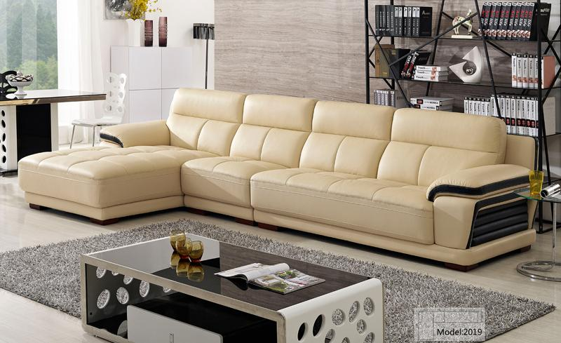 Free Shipping European modern leather sectional sofa Classical