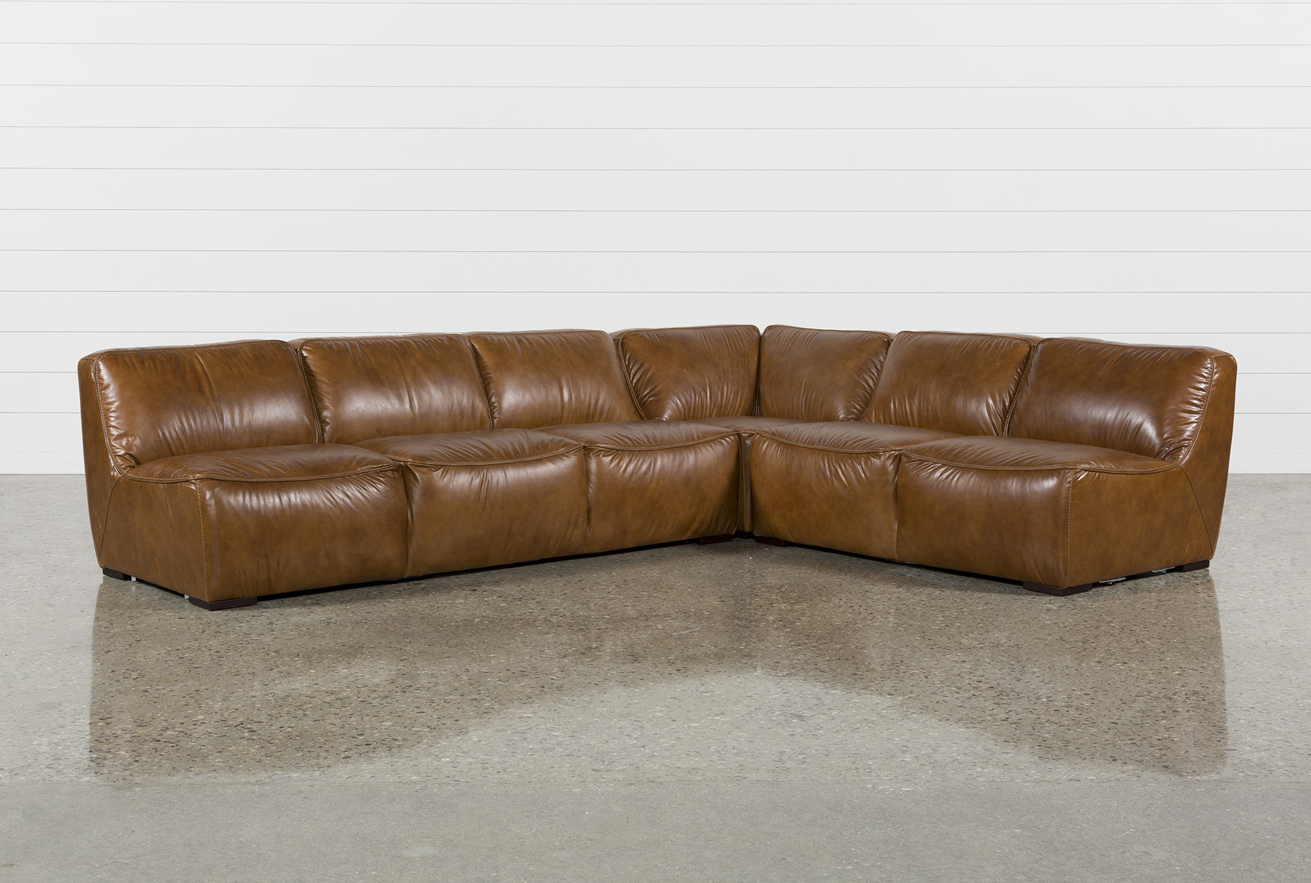 Burton Leather 3 Piece Sectional | Living Spaces
