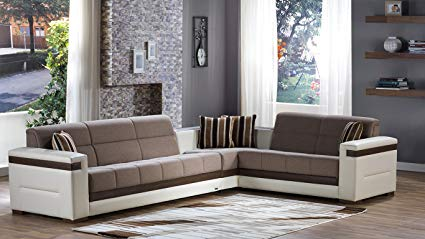 Amazon.com: Moon Sectional Sofa Bed in Platin Mustard: Kitchen & Dining