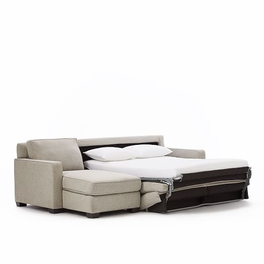 Henry® 2-Piece Pull-Down Full Sleeper Sectional w/ Storage | west elm
