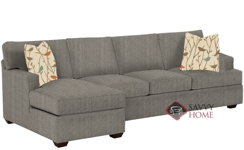 Quick-Ship Lincoln Fabric Sleeper Sofas Chaise Sectional in Frenzy