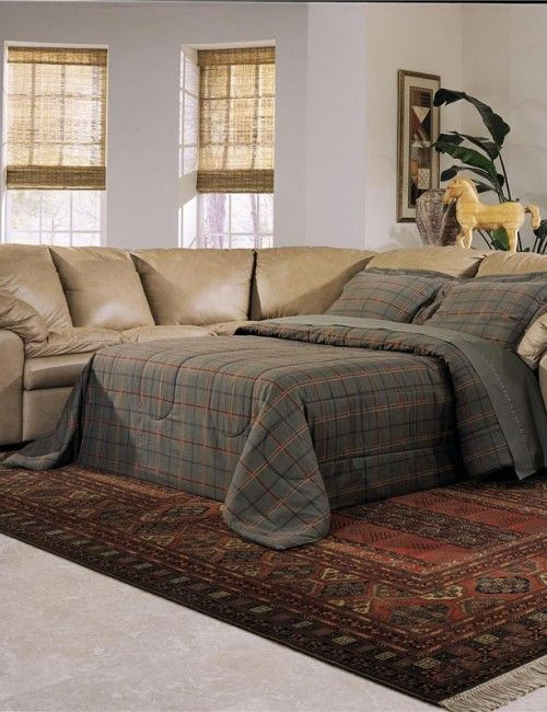 Reclining sectional sofa with sleeper | New home ideas | Pinterest