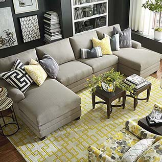 Fabric Sectionals | Sectional Sofas | Sectionals