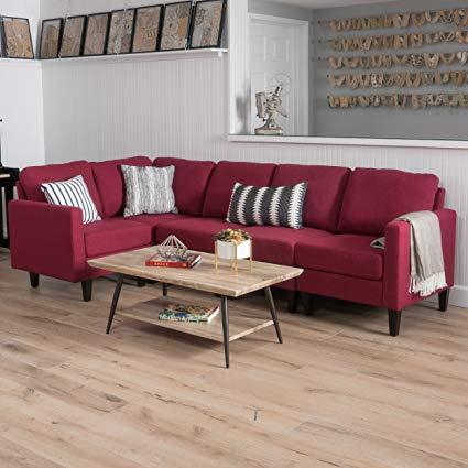 Amazon.com: Bridger Sectional Sofa Set, 5-Piece Living Room