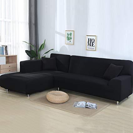 Amazon.com: cjc Universal Sofa Covers for L Shape, 2pcs Polyester