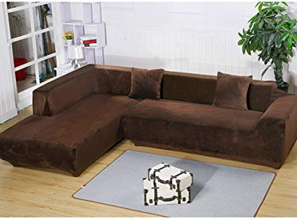 Amazon.com: Getmorebeauty L Shape Sectional Thick Plush Velvet Couch