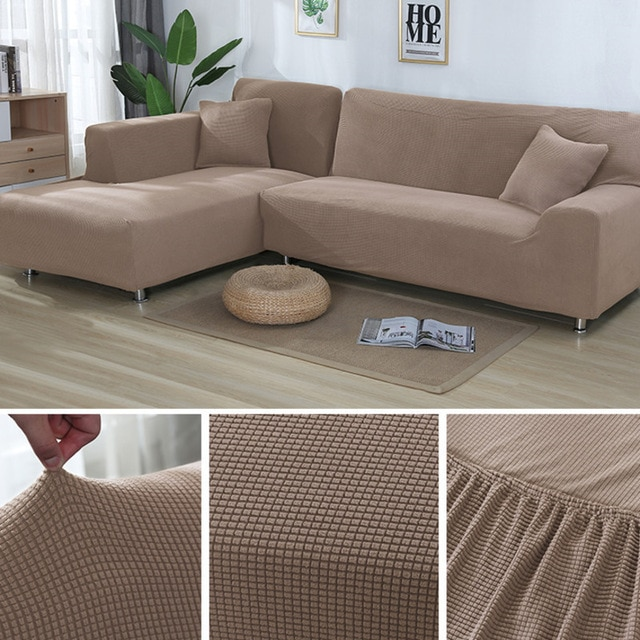 L Shape Sofa Covers Sectional Sofa Cover 2 Pcs Stretch Sofa