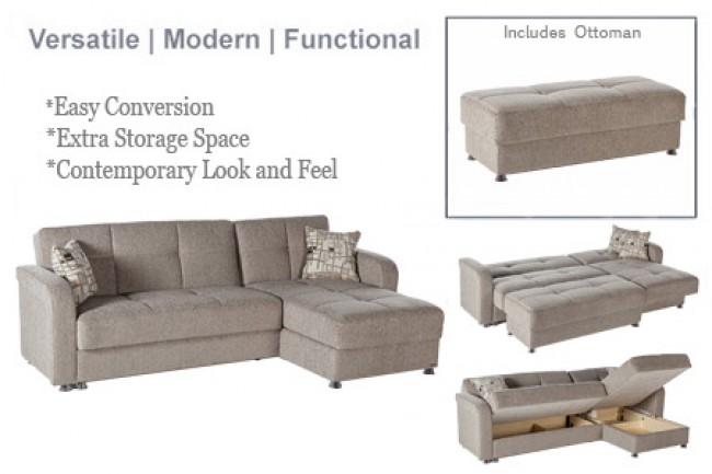 Futon Sectional Sofa Sleeper | Vision Brown Sofa Sleeper | Futon Shop