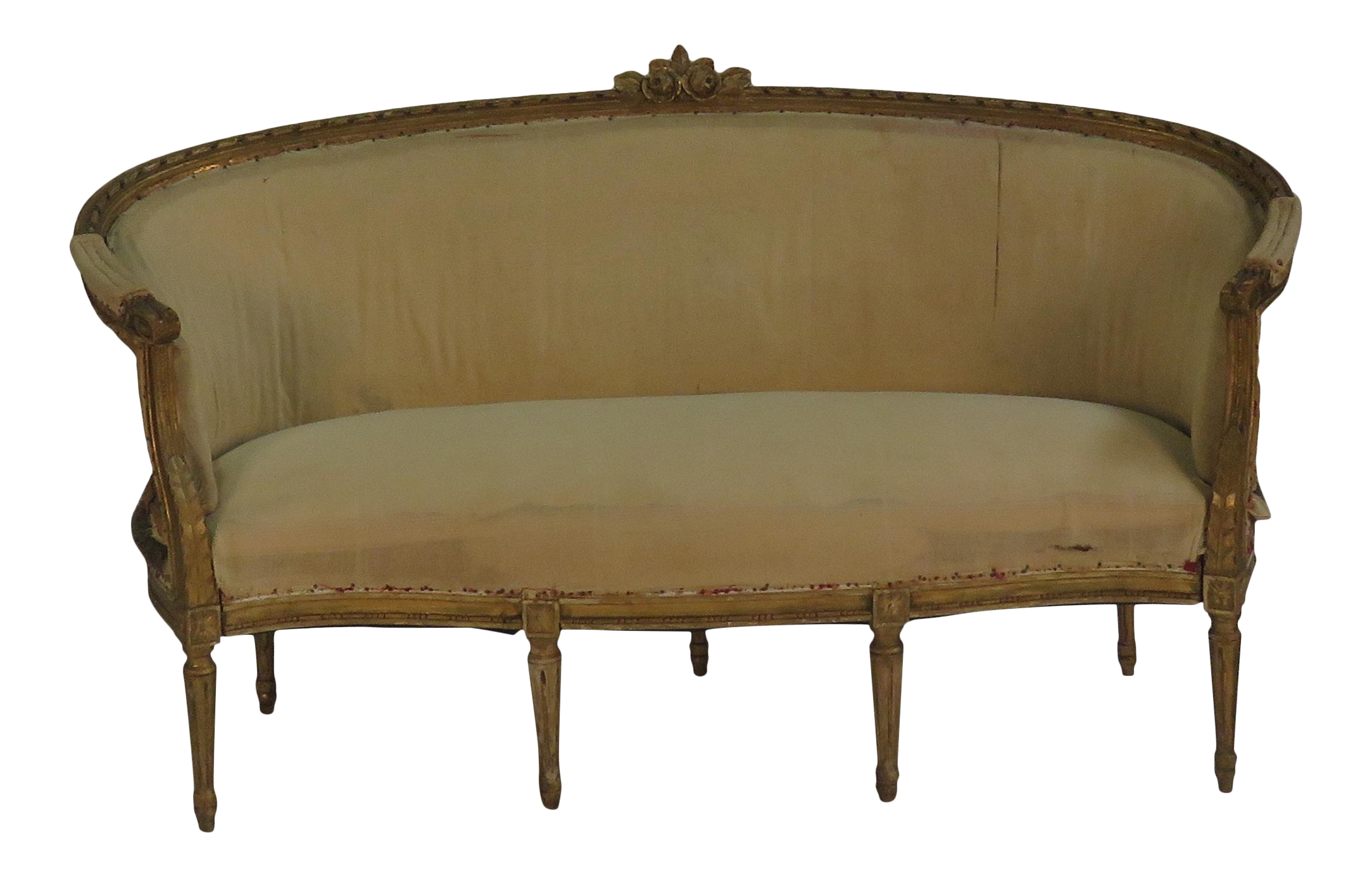 Luxury 1900s Swedish Wood Carved Settee Loveseat | DECASO