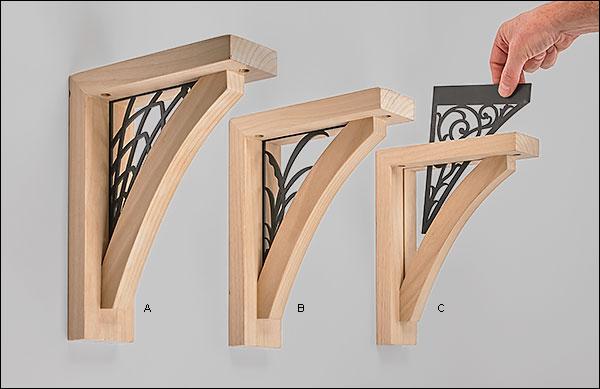 Wooden Shelf Brackets - Lee Valley Tools