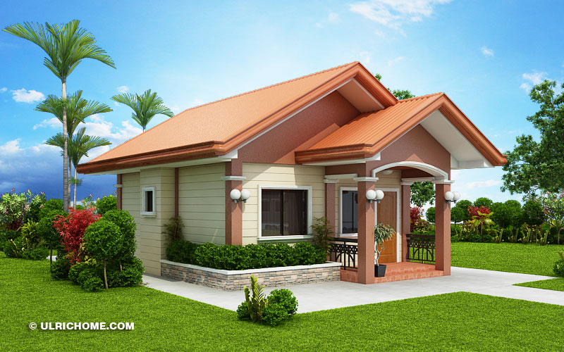 Small And Simple House Design With Two Bedrooms - Ulric Home