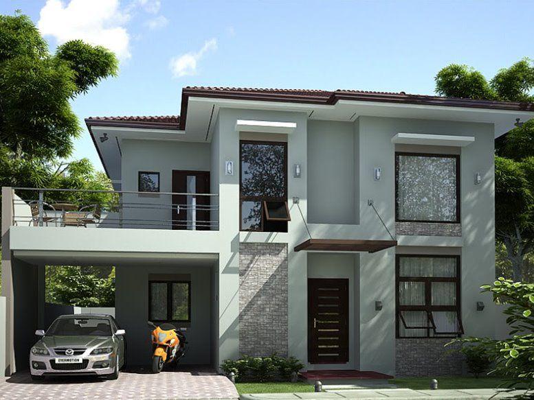 2 Storey Simple Modern House Design | Prefered House | Pinterest