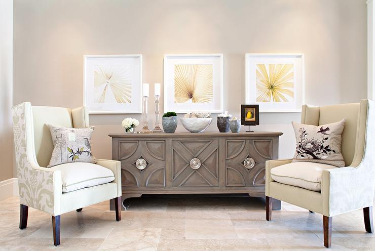 Foyer Seating Area - Contemporary - living room - Elizabeth Kimberly