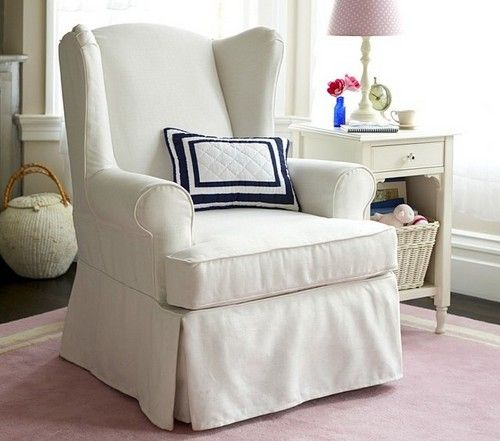 Download wingback chair slipcovers white | Home - Living Room Corner